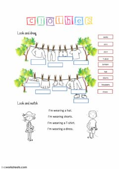 Interactive worksheet Clothes-1