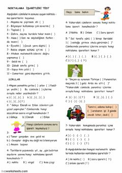 Interactive worksheet Turkish