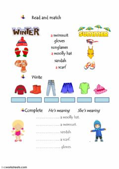 Interactive worksheet Clothes-2