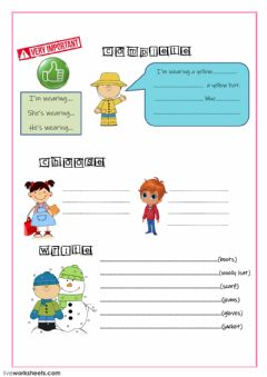 Interactive worksheet Clothes-3