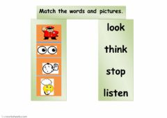 Interactive worksheet stop, look, listen, think