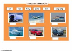 Ficha interactiva types of transport