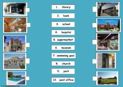 places in a town worksheet preview