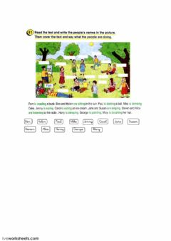 Interactive worksheet Present continuous.startres