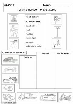 Interactive worksheet Where I live
