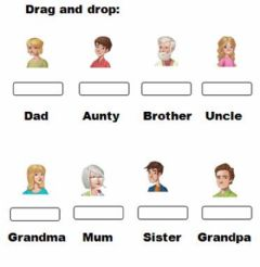 Interactive worksheet Drag and drop: Family