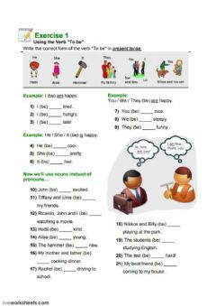 Interactive worksheet Verb To Be