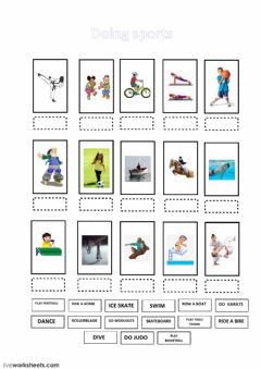 Interactive worksheet DOING SPORTS
