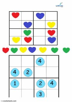 Interactive worksheet sudoku 1