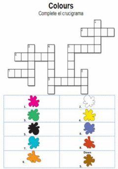 Ficha interactiva Colours. Crosswords