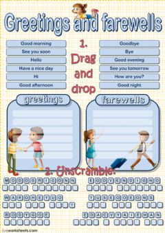 Greetings and farewells interactive worksheets interactive worksheet greetings and farewells m4hsunfo