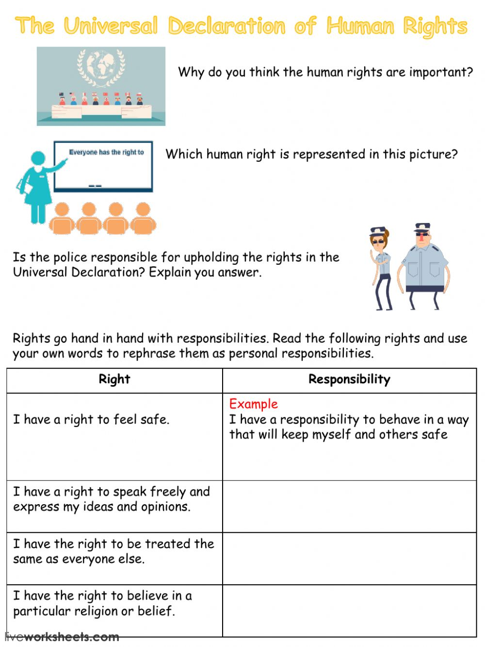 personal responsibility worksheets - Ideal.vistalist.co
