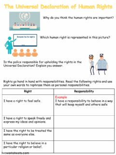 Interactive worksheet Human Rights