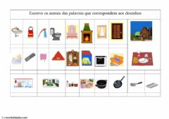 Interactive worksheet Vocabulario-08 A casa