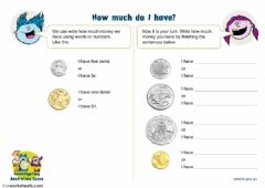 Interactive worksheet Australian Money
