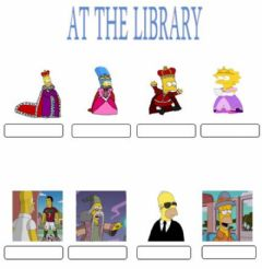 Interactive worksheet At the library. Multiple choice