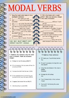 Interactive worksheet Modal verbs