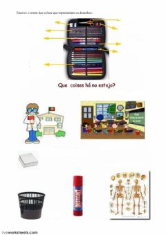 Interactive worksheet A escola