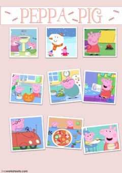 Ficha interactiva Learn YourVerbs With Peppa Pig
