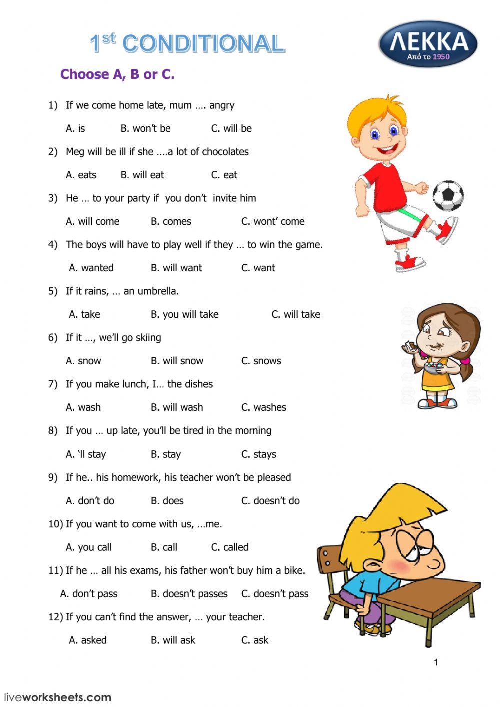 - 1st Conditional B Class - Interactive Worksheet