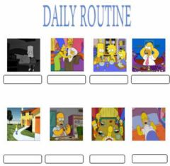Interactive worksheet Daily routine. Multiple choice