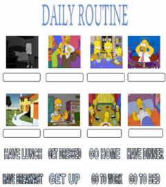 Interactive worksheet Daily routine. drag and drop.