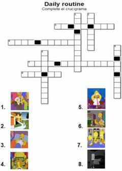 Interactive worksheet Daily routines. Crossword