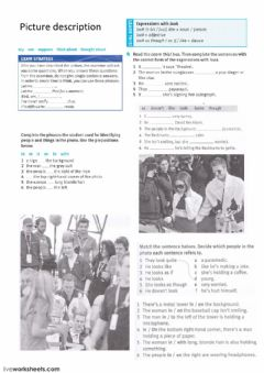 Interactive worksheet Picture description 2