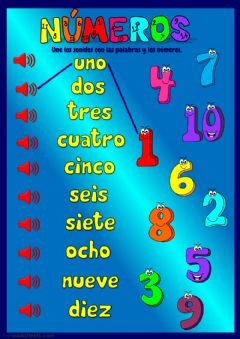 Interactive worksheet Números 1-10