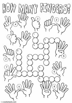 Interactive worksheet How many fingers?