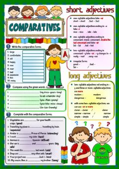 Comparatives - revision worksheet preview