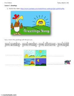 English exercises greetings and farewells greetings worksheet preview m4hsunfo