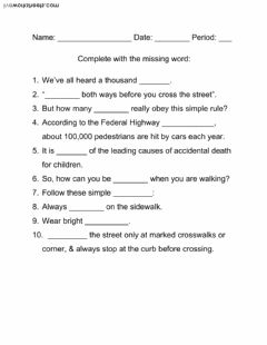 Interactive worksheet Safety On Foot