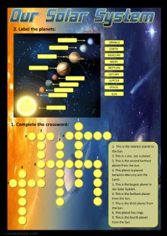 Our Solar System worksheet preview