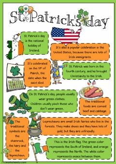 St. Patrick's Day worksheet preview