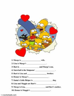 Interactive worksheet The Simpsons