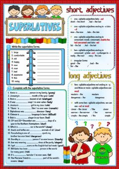Interactive worksheet Superlative - revision