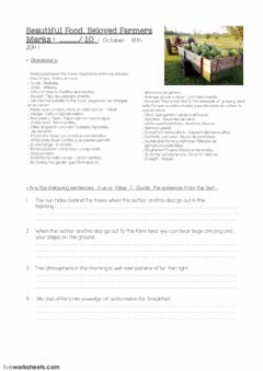 Interactive worksheet Beloved Farmers Beloved Food