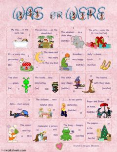 Interactive worksheet was- were