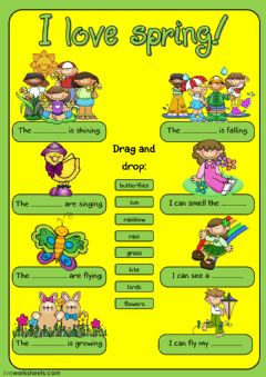 Interactive worksheet I love spring!