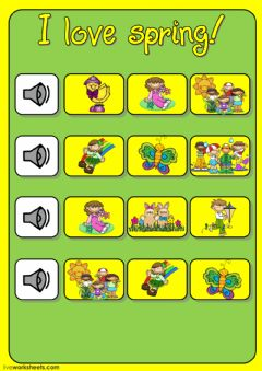 Interactive worksheet I love spring! (listening)