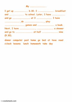 My day worksheet preview