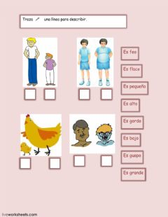 Interactive worksheet ¿Cómo es?