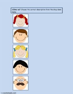 Interactive worksheet Mi pelo
