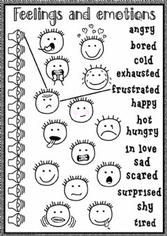 Feelings and emotions - listening worksheet preview