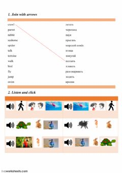 Interactive worksheet 10a Clever animals!