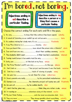 Interactive worksheet I'm bored, not boring