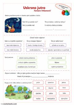 Interactive worksheet Uskrsno jutro