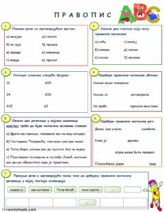 Interactive worksheet Правопис 5