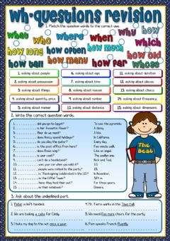 Interactive worksheet Wh-questions - revision